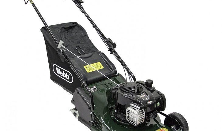 Webb 17in Petrol Lawn mower with Rear Roller