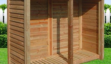 NORMANTON 6FT WOODEN LOG STORE UK
