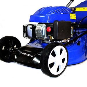 The Hyundai HYM46SP lawn mower