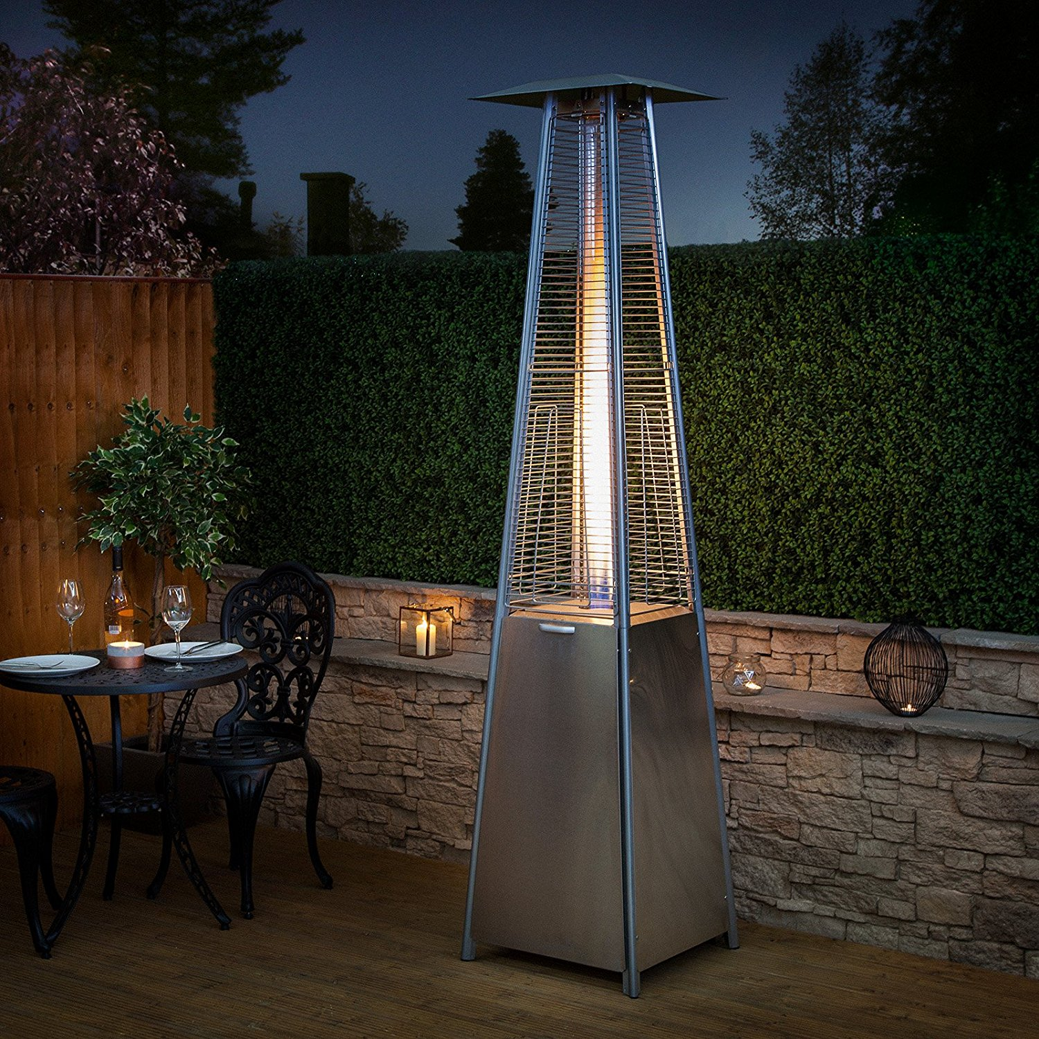 Pyramid Living Flame Garden Gas Patio Heater