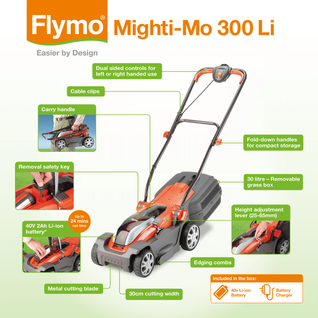 Flymo Mighti-Mo 300 power