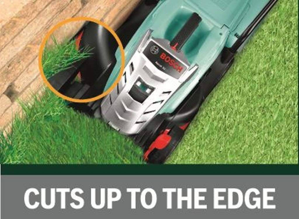 mower cuts to the edge