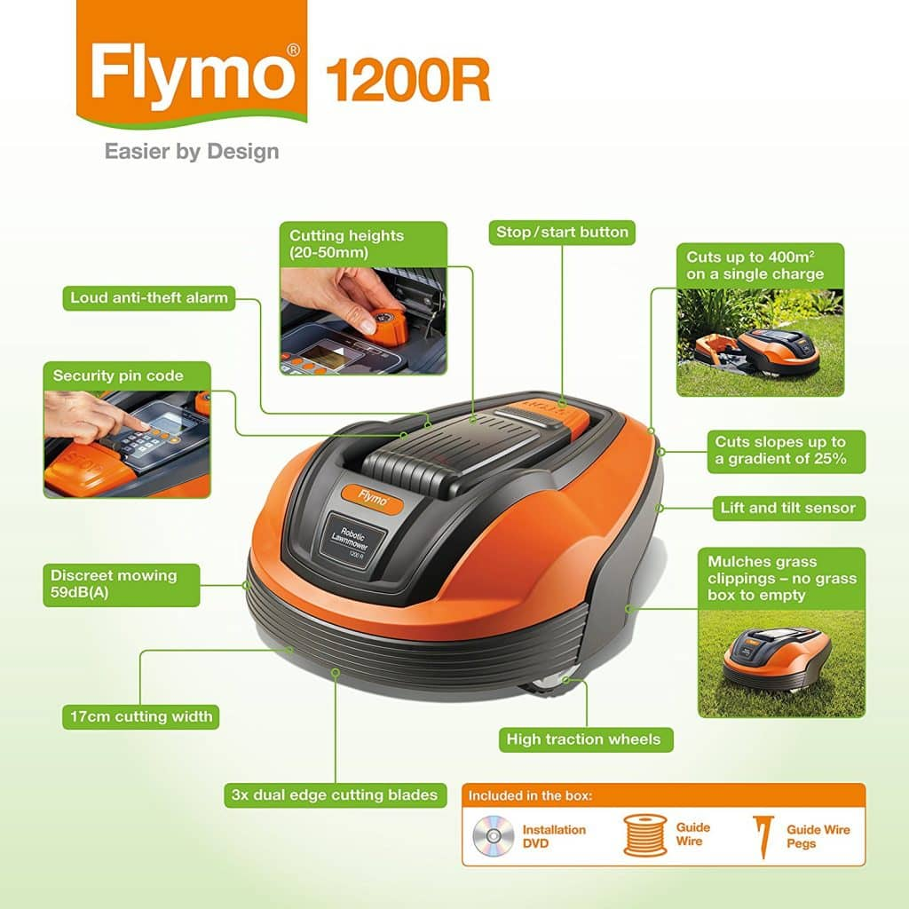 Flymo 1200R features