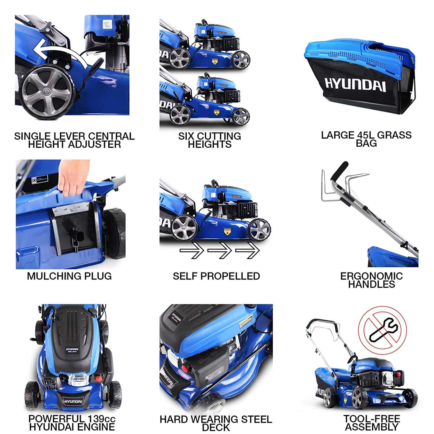 Petrol Mower Features