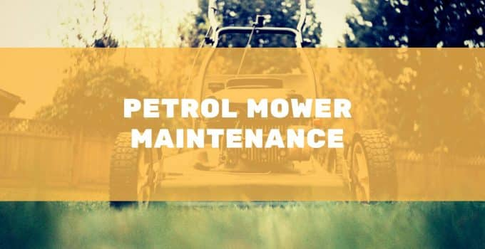How to service a petrol lawn mower